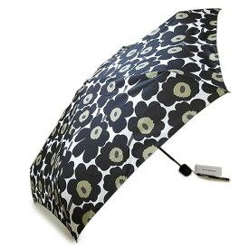 マリメッコ 傘 折りたたみ傘 ミニ ウニッコ ホワイト×ブラック MARIMEKKO MINI UNIKKO 038653 030