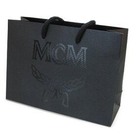 MCM 紙袋 正規店 エムシーエム ペーパーバッグ ショッパー 黒 24.5×18×9cm(財布・小物向け)【ブランド付属品】【紙袋】