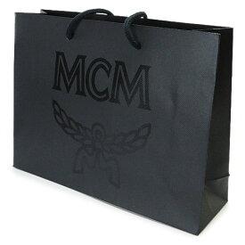 MCM 紙袋 正規店 エムシーエム ペーパーバッグ ショッパー 黒 35×26×10cm【ブランド付属品】【紙袋】