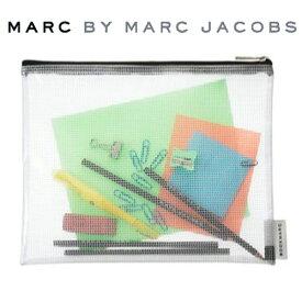 マークジェイコブス MARCJACOBS ケース ジップポーチ BOOKMARCLAG ラージサイズ ホワイト×ブラック 196276 【メール便なら送料無料】