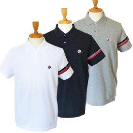 モンクレール ポロシャツ 半袖 メンズ 8A70900 84556 ロゴ トリコロール MONCLER MAGLIA POLO MANICA C 【07pt05】