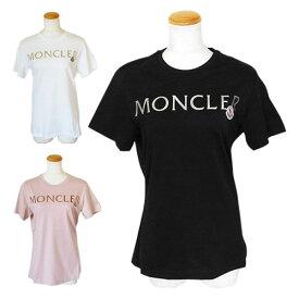 モンクレール Tシャツ レディース 8C71510 V8094 半袖 クルーネック ロゴ MONCLER T-SHIRT GIROCOLLO 【2021年春夏新作】