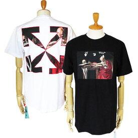 オフホワイト Tシャツ 半袖 メンズ OMAA027R21JER004 クルーネック カラヴァッジオ OFF-WHITE CARAVAGGIO S/S SLIM TEE 【2021年春夏新作】
