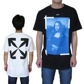 オフホワイト Tシャツ 半袖 メンズ OMAA027R21JER002 クルーネック ブルーモナリザ OFF-WHITE BLUE MONALISA S/S SLIM TEE 【2021年春夏新作】