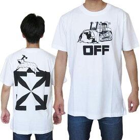 オフホワイト Tシャツ 半袖 メンズ OMAA027R21JER013 0110 クルーネック ワールド キャタピラー OFF-WHITE WORLD CATERPILLA S/S SLIM TEE 【2021年春夏新作】