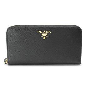 プラダ 長財布 PRADA 1ML506 QWA F0002/SAFFIANO METAL NERO レディース 財布 ラウンドファスナー レザー ブラック 黒