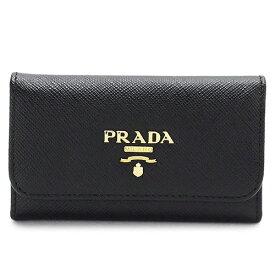 プラダ キーケース PRADA 1PG222 QWA F0002 レディース SAFFIANO METAL NERO レザー ブラック 黒