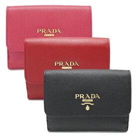プラダ 折財布 レディース 1MH523 QWA/SAFFIANO METAL PRADA 財布 Wホック サフィアーノメタル 型押しレザー