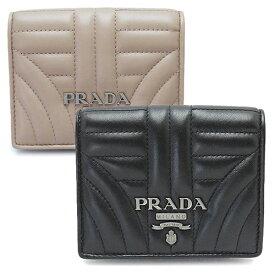 fd9081c1bcb2 プラダ 折財布 1MV204 2B0X F0002/F0236 レディース PRADA 財布 二つ折り レザー NAPPA IMPUNTURE