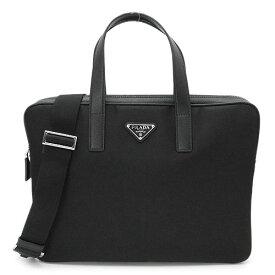 プラダ ブリーフケース メンズ 2VE368 064 F0002 NOM ビジネスバッグ ブラック 黒 PRADA TESSTO+SAFFIANO NERO