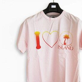 Tシャツ/カットソー 半袖 ISL1003/island0002 アイランド ISLAND ロゴ LOVE TEE DIRTY PINK/ダーティーピンク 【メール便対応】
