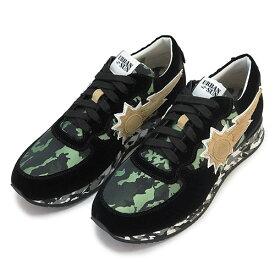 アーバンサン スニーカー メンズ URBAN SUN ANDRE 123 シューズ 靴 ブラック×グリーンカモ 迷彩柄