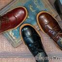 シャイニーメダリオンレースアップシューズ クラシック 紐靴 おじ靴 フラットシューズ K1911 【CSF】