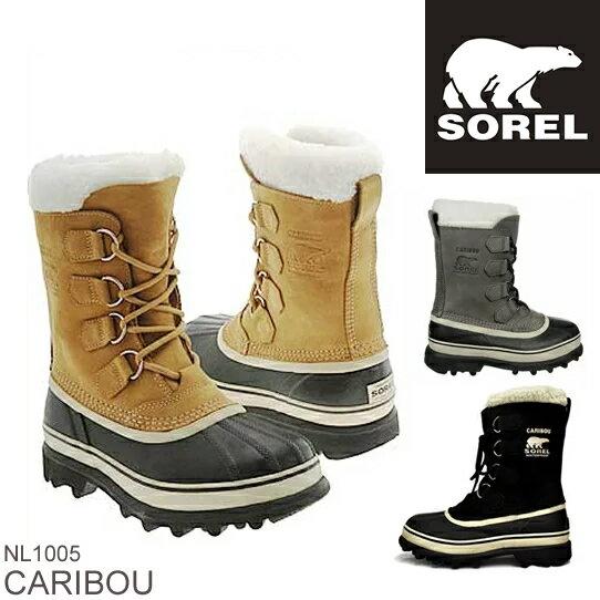 【15日エントリーで最大25倍】 SOREL ソレル CARIBOU カリブー NL1005 レディース 防寒ブーツ 雪靴 スノーブーツ ウィンターブーツ アウトドアブーツ  正規品取扱店舗  so1