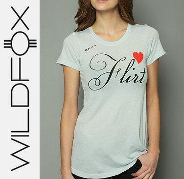 即日発送 Wildfox ワイルドフォックス FLIRTY Crew W Studs フラーティ クルーネック スタッズ付 Tシャツ /正規品取扱店舗/