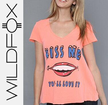 即日発送 Wildfox ワイルドフォックス The Youll Love It V-Neck Vネック半袖Tシャツ /正規品取扱店舗/