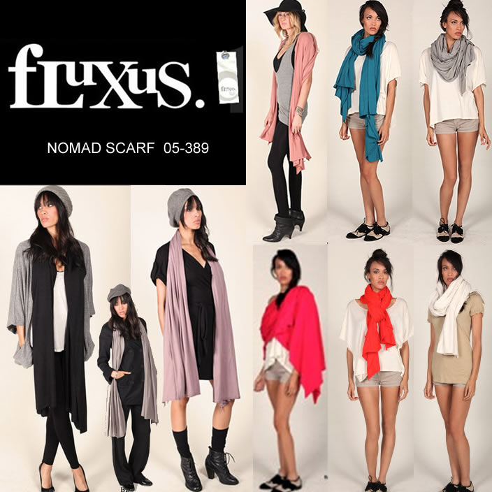 即日発送 フルクサス Fluxus NOMAD SCARF ビックストール スカーフ ストール  正規品取扱店舗