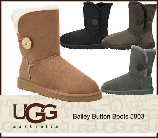 UGG アグ UGG Bailey Button Boots 5803 ベイリー ボタン ショート ブーツ 正規品 /正規品取扱店舗/ so1