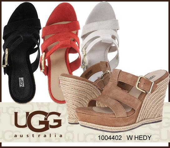 UGG アグ W HEDY ヘイディ スウェードウェッジサンダル ウェッジソール サンダル 1004402 /正規品取扱店舗/ so1