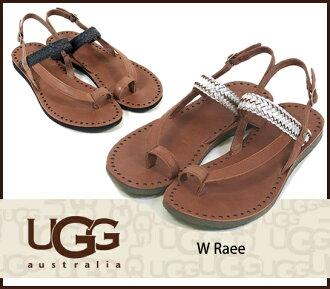 ♦ 最新股票 ♦ UGG 澳大利亚 Ugg 澳大利亚 W RAEE 至上女子平底凉鞋 1006345 1006880/s 皮带凉鞋