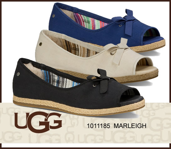 UGG W MARLEIGH マーレイ 1011185  正規品取扱店舗 スリッポン フラットシューズ オープントゥ シープスキン ジュート s so1