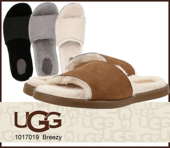 UGG アグ サンダル BREEZY ブリージー ムートンフラットサンダル 1017019 正規品取扱店舗  so1