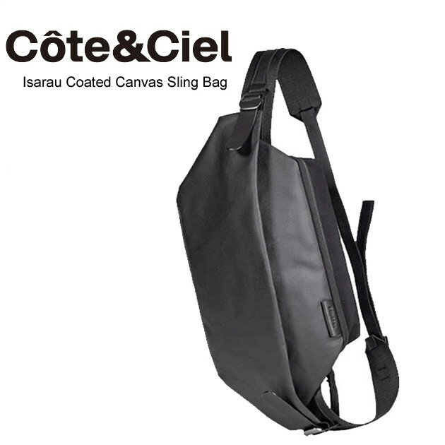 Cote&Ciel コートエシエル ISARAU Coated Canvas Black メッセンジャーバッグ ショルダーバッグ 28395  正規品取扱店舗 コンビニ受取対応商品 so1