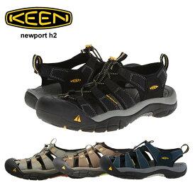 キーン ニューポート H2 ブラック サンダル 靴 KEEN Newport H2 1001907 メンズ 男性 シューズ アウトドア キャンプ フェス スポーツ 自転車 素足 軽量 正規品取扱店舗