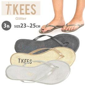 TKEES ティキーズ レディース 女性用 シューズ 靴 サンダル フラットサンダル glitters シルバー ゴールド ティーキーズ 正規品取扱店舗