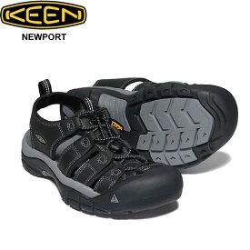 キーン ニューポート ブラック サンダル 靴 KEEN Newport 1022247 メンズ 男性 シューズ アウトドア キャンプ フェス スポーツ 自転車 素足 軽量 正規品取扱店舗