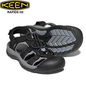 キーン ラピッド エイチツー ブラック サンダル 靴 KEEN RAPIDS H2 1022272 メンズ 男性 シューズ アウトドア キャンプ フェス スポーツ 自転車 素足 軽量 正規品取扱店舗