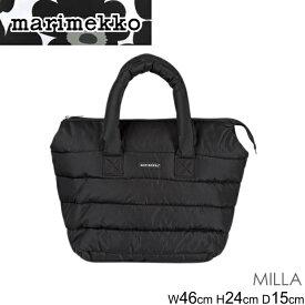 マリメッコ ハンドバッグ トートバッグ marimekko MILLA 045492 ミレー レディース BLACK ブラック 黒 シンプル 正規品取扱店舗
