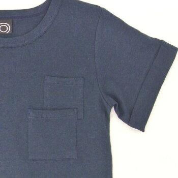 ◎日本製◎現役ママが考案◎キッズポケットTシャツ半袖タイプ◎無地でも肌着に見えないコナレ感たっぷりのTシャツ◎ダブルポケットつき◎楽ギフ_包装コンビニ受取対応商品