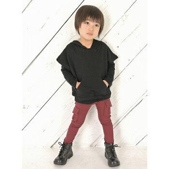 子供服大人っぽい女の子男の子キッズスキニーカーゴパンツボトムスズボンストレッチパンツおしゃれスウェットパンツ日本製