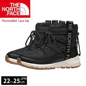 ノースフェイス スノーブーツ THE NORTH FACE ThermoBall Lace Up Boot サーモボール レースアップ ブーツ 耐水 シューズ レディース 黒 ブラック 正規品取扱店舗
