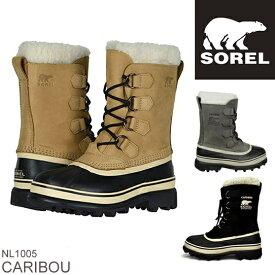 SOREL ソレル CARIBOU カリブー NL1005 レディース 防寒ブーツ 雪靴 スノーブーツ ウィンターブーツ アウトドアブーツ  正規品取扱店舗