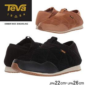 テバ エンバーモック シェアリング 女性 TEVA EMBER MOC SHEARLING 1103271 レディース スリッポン スニーカー 靴 シューズ カジュアルシューズ ローカット アウトドア 黒 ブラック タウンユース 2WAY グリップ性 防寒 正規品取扱店舗
