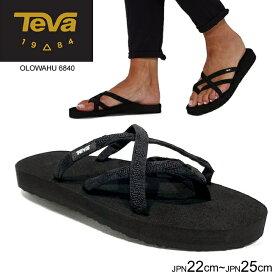テバ Teva レディース サンダル オロワフトングサンダル ストラップ OLOWAHU ブラック 6840 正規品取扱店舗