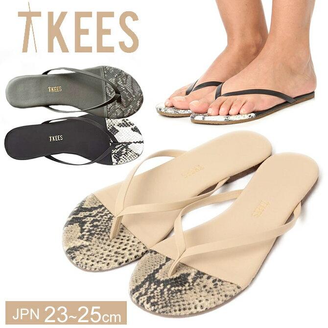TKEES ティキーズ レディース 女性用 シューズ 靴 サンダル パイソン柄 フラットサンダル FRENCH TIPS ティーキーズ 正規品取扱店舗 so1