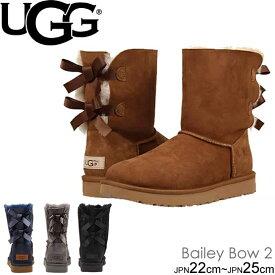 UGG BaileyBowII ベイリーボウ2 1016225 ダブルリボン付きムートンブーツ シープスキンブーツ 正規品取扱店舗  クラシックライン