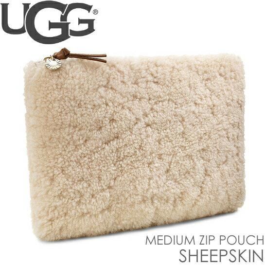 アグ UGG クラッチバッグ ミディアムサイズ ジップ ポーチ シープスキン MEDIUM ZIP POUCH SHEEPSKIN 正規品取扱店舗