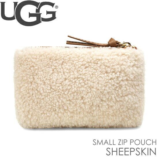 アグ UGG クラッチバッグ スモールサイズ ジップ ポーチ シープスキン SMALL ZIP POUCH SHEEPSKIN 正規品取扱店舗