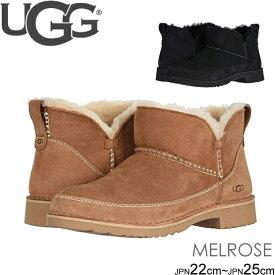 アグ ugg ブーツ 新作 シープスキン MELROSE ブラック メルローズ アンクル丈 1103807 正規品取扱店舗
