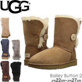 UGG アグ ムートンブーツ 1016226 ベイリーボタン II レディース Women's Classic Collection W BAILEY BUTTON II ショート ブーツ シープスキン 正規品取扱店舗