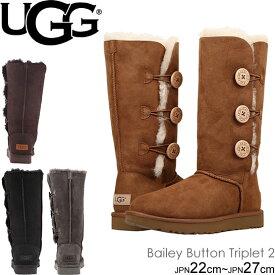 UGG アグ ムートンブーツ 1016227 ベイリーボタントリプレットII ベイリーボタントリプレット2 レディース Women's Classic Collection Bailey Button Triplet II トール ブーツ シープスキン 正規品取扱店舗