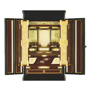 金仏壇 上置仏壇 小型仏壇 京型上置 【くれない】 戸裏紅溜塗