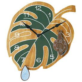 壁掛け時計 【Shizuku シズク CL-9885】 掛時計 振り子時計 ウォールクロック 25cm幅 おしゃれ かわいい インテリア キッズ リビング 子供部屋 電池付き
