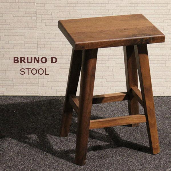 スツール 四角形 ウォールナット無垢材 (ブルーノ スクエアスツール) bruno walnut 花台/花瓶置/木製