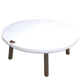 こたつ 白 105 円形 ホワイト 円型 丸 丸型こたつテーブル 国産 日本製 ホワイト こたつ本体 北欧 かわいい デザイナーズ タカタツ デザインこたつ 省エネ おしゃれ コタツ NUDE まる ヌード まる 105サイズ