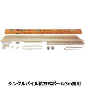 こいのぼり 200-540 シングルパイル杭方式ポール 6号(5.3m) 3m鯉用 掲揚器具徳永鯉のぼり